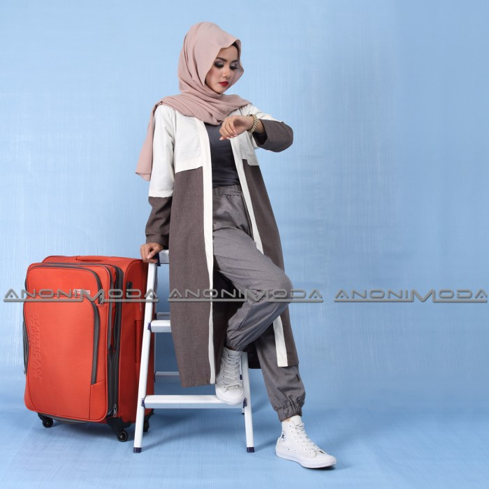 Anonimoda - Cardigan Hijabers - Kimberly - Coffee 01